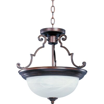 Essentials ES 2 Light Inverted Semi-Flush Mount Pendant