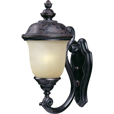 "Maxim Lighting Carriage House ES 20"" One Light Outdoor Wall Lantern in Oriental Bronze"