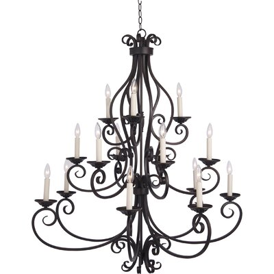 Manor 40W 15 Light Chandelier
