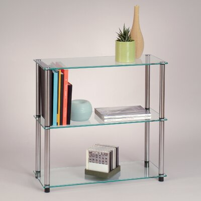 Convenience Concepts Classic Glass 3-Shelf Bookcase