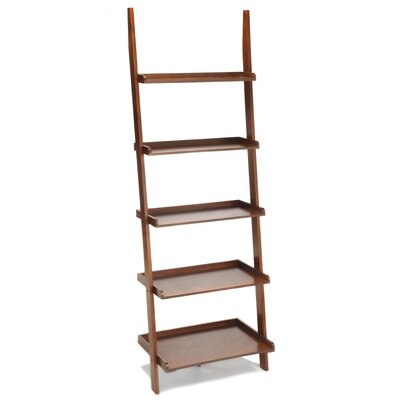 American Heritage Ladder Bookshelf Multimedia Storage Rack