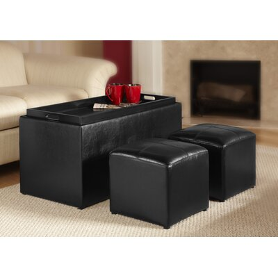 Designs4Comfort Sheridan Storage Bench with Ottoman Set