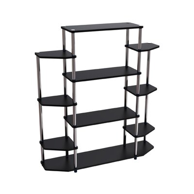 Convenience Concepts Designs 2 Go Wall Unit Bookshelf in Black