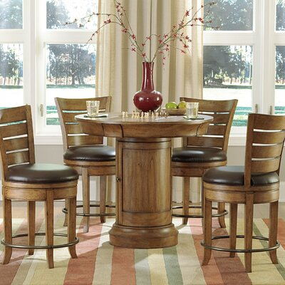 Hidden Treasures 5 Piece Pub Table Set