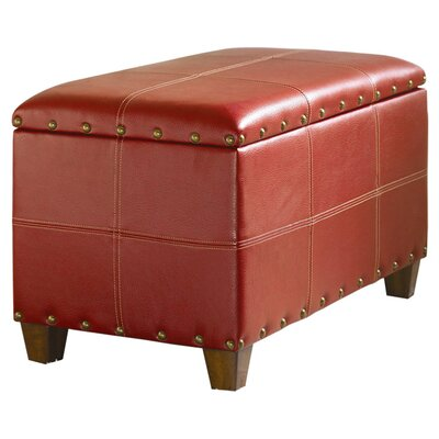 Hammary Hidden Treasures Trunk in Distressed Red