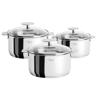 Cristel Casteline Pot Set with Lid and Optional Handle