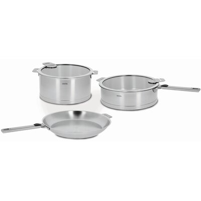 Cristel Strate Removable Handle 7-Piece Cookware Set