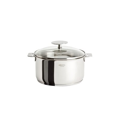 Cristel Casteline Stock Pot with Lid and Optional Handle