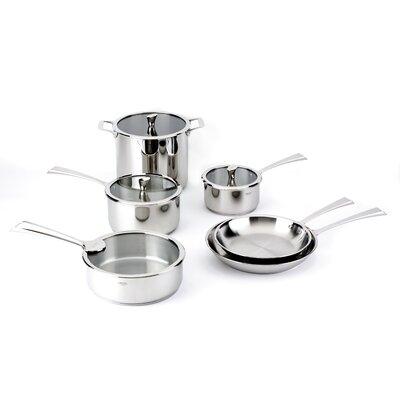 Cristel Casteline Fixed Handle 10-Piece Cookware Set