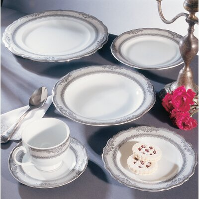 "Ten Strawberry Street Vanessa Platinum 12"" Buffet Plate"