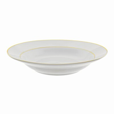 "Ten Strawberry Street Double Gold Line 9"" Rim Soup Bowl"