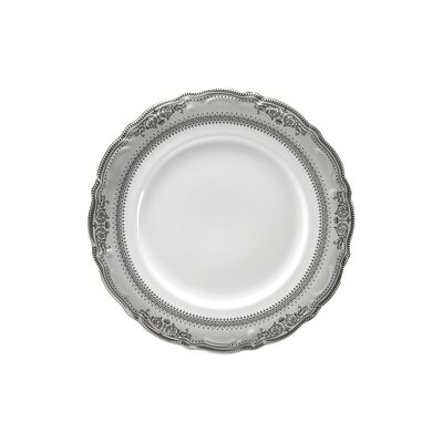 "Ten Strawberry Street Vanessa Platinum 7.5"" Salad Plate"