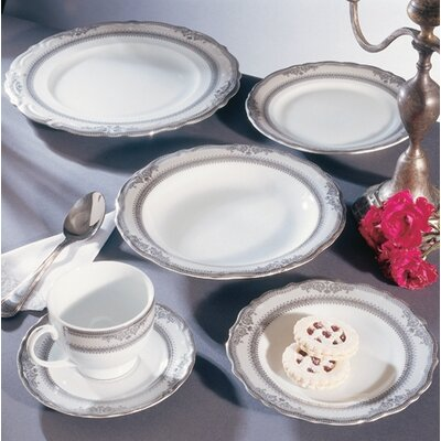 Ten Strawberry Street Studio Ten Vanessa Platinum Dinnerware Set