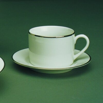 Ten Strawberry Street Silver Line 6 oz. Teacup and Saucer