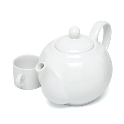 Ten Strawberry Street Royal White 40 oz. Teapot