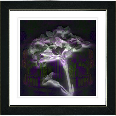 "Studio Works Modern ""Floral Montage"" by Zhee Singer Framed Giclee Print Fine Art in Purple"