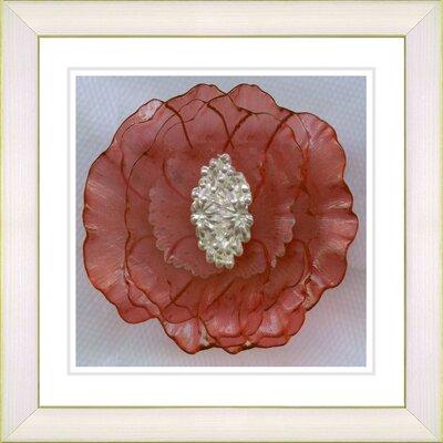 "Studio Works Modern ""Crystal Flower - Orange"" by Zhee Singer Framed Fine Art Giclee Print"