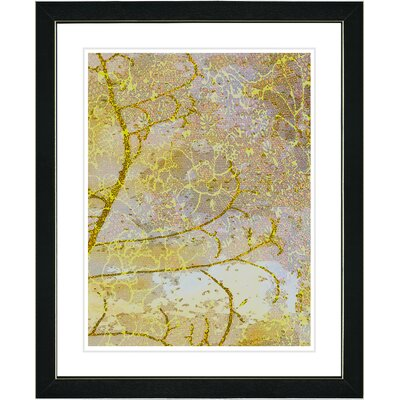 "Studio Works Modern ""Gold Flower Branches"" by Zhee Singer Framed Graphic Art"