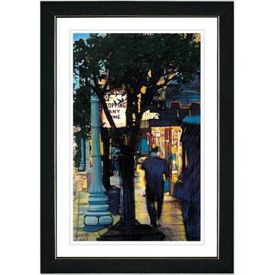 "Studio Works Modern ""Evening Walk"" by Zhee Singer Framed Painting Print"