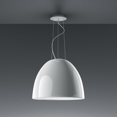 Artemide Nur 1 Light Bowl Pendant