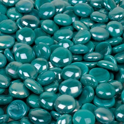Wholesalers USA 5 lbs of  Glass Gems in Opal Turquoise