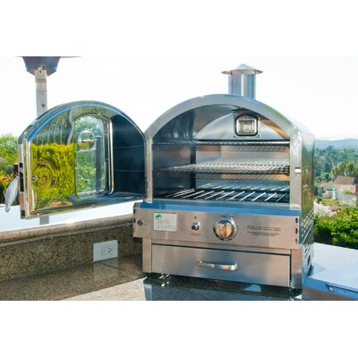 Pacific Living 22 8 Outdoor Pizza Oven Gas Grill Reviews Wayfair