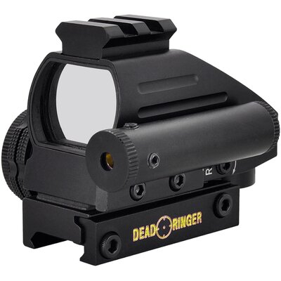Dead Ringer 24x34mm 4 Retical 2 Color Monteria Red Dot Sight With Laser