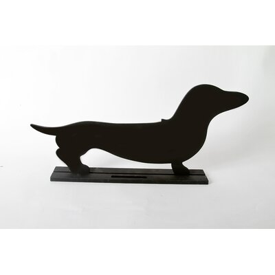"""DEI Unleashed """"Dachshund"""" Dog Silhouette Table 8.5"""" x 1' 7.5"""" Chalkboard"""