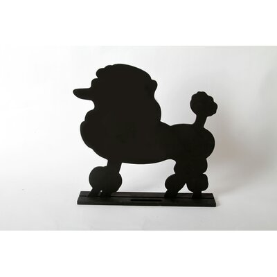 "DEI Unleashed ""Poodle"" Dog Silhouette Table Chalkboard"