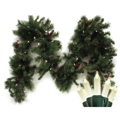 Brite Star Traditional Mini 35 Light LED Anchorage Fir Branch Garland
