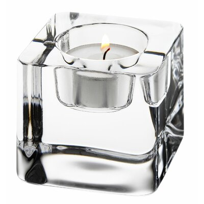Orrefors Ice Cube Crystal Votive
