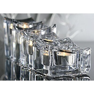 Orrefors Polaris Crystal Votives (Set of 3)