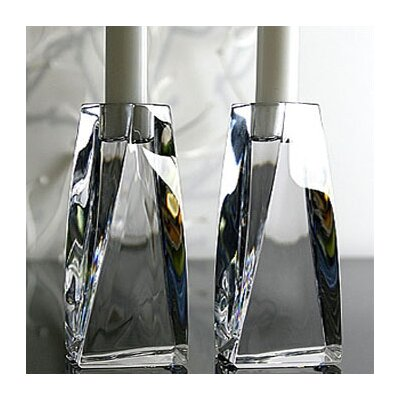 "Orrefors Tornado 8.25"" Crystal Candlesticks (Set of 2)"