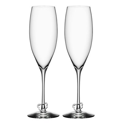 Orrefors Crazy Heart Flute Glass (Set of 2)