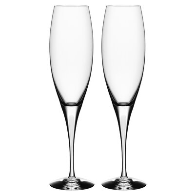 Orrefors Intermezzo Satin Flute Glass (Set of 2)