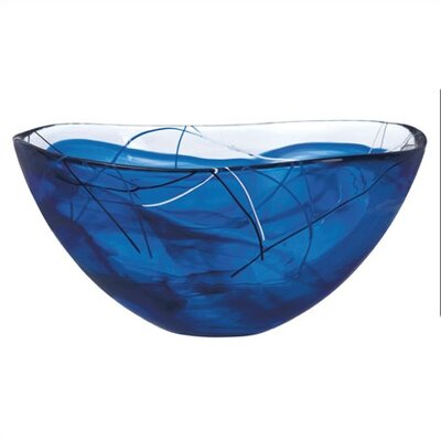 Kosta Boda Contrast Large Blue Bowl