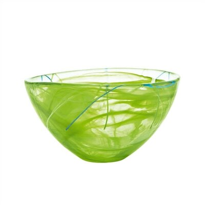 Kosta Boda Contrast Medium Lime Bowl