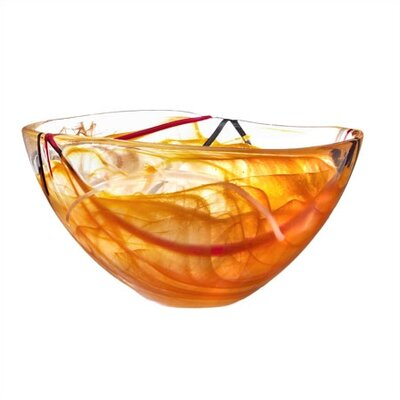 Kosta Boda Contrast Medium Orange Bowl