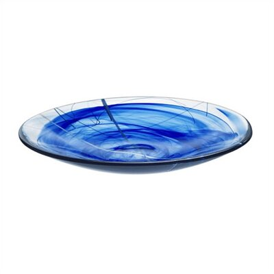 Kosta Boda Contrast Blue Platter