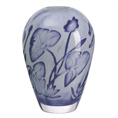 Kosta Boda Floating Flower Blue Vase