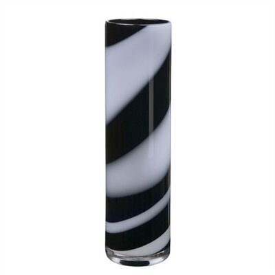 Kosta Boda Twist Tall Black & White Vase