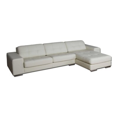 Eurosace Luxor Sectional - Top Grain Italian Leather