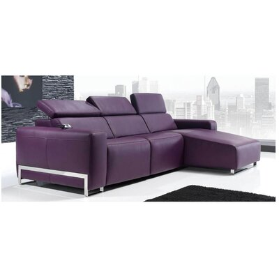 Eurosace Luxury Napoli Sectional - Top Grain Italian Leather