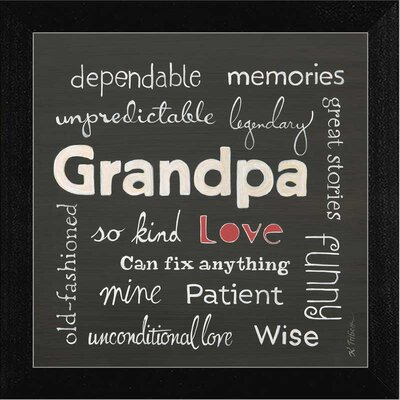 Grandpa Love Framed Textual Art