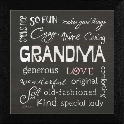 Grandma Love Framed Textual Art