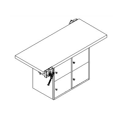 Shain Two Station Workbench with Four Locker Openings