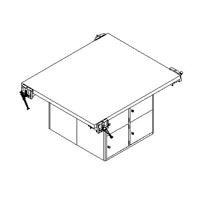 Shain Four Station Workbench with Four Locker Openings