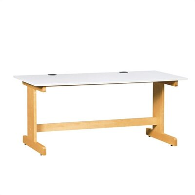 Shain Work Table with Almond Plastic Laminate Top