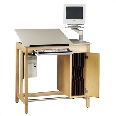 Shain Drawing Table with Board Storage