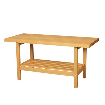 Shain Two Station Wooden Workbench with Shelf